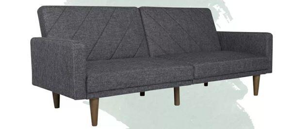 Split Back Convertible Sofa Futon