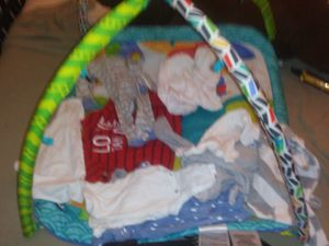 Kids Playpen and baby clothes assorted sizes and baby harness included too for Sale in Phoenix, AZ