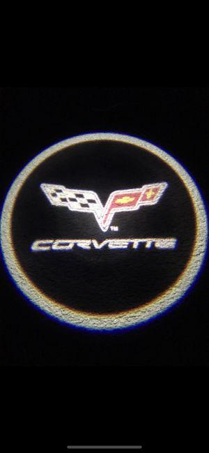 Corvette car door projector lights shadow lights auto on/off aaa batteries for Sale in Paramount, CA