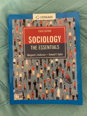 Sociology the essentials 10th edition for Sale in Brownsville, TX