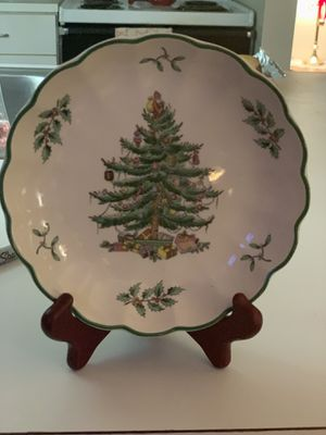 """Spode Christmas Tree England S3324 Ruffled Edge 6.5"""" Bowl Nut Candy for Sale in Wyoming, MI"""