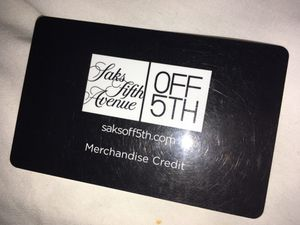 Saks Fifth Avenue Merchandise Credit for Sale in Westminster, CA