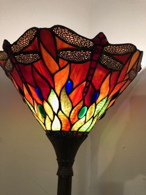Tiffany stain glass vintage floor lamp for Sale in Evanston, IL