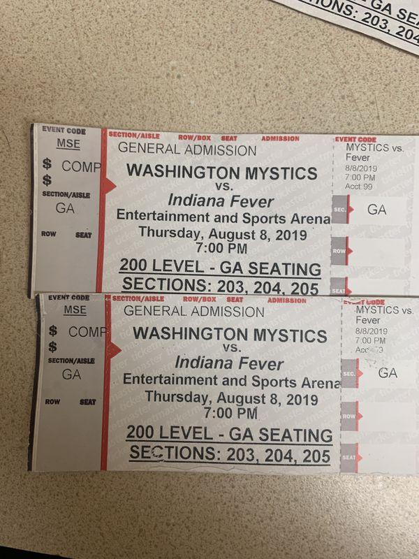 2 basketball tickets