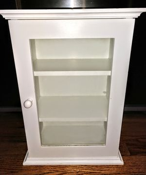 """Small Space Saving White 3-Shelf Cabinet 12"""" x 7"""" x 16.5"""" for Sale in Arvada, CO"""