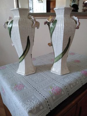 Two Flowered Vases for Sale in Visalia, CA