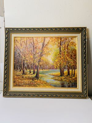 "Vintage OilPainting By "" Mike Berens "" Wall Art Decor 25"" X 21"" for Sale in Beverly Hills, CA"