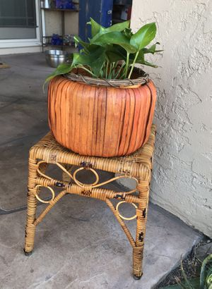 Vintage Rattan Plant Stand, Wicker Plant Stand for Sale in Phoenix, AZ