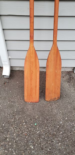 pair unsigned canoe paddles good condition for Sale in Bremerton, WA