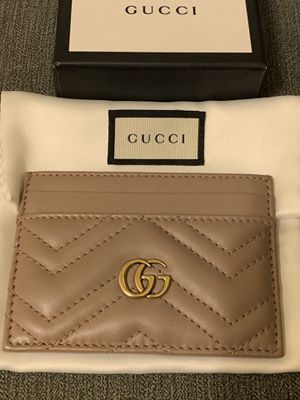 Preloved Gucci Marmont Card Case in Dusty Pink Leather for Sale in Tucson, AZ