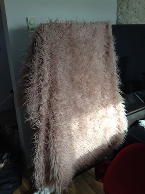 *LARGE FUZZY THROW BLANKET FROM WORLD MARKET for Sale in Renton, WA
