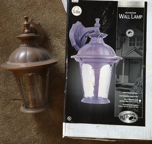 $22 OBO HAMPTON BAY OUTDOOR LIGHT - **NEW IN OPEN BOX, NEVER USED **NO BULBS INCLUDED for Sale in Glendale, AZ