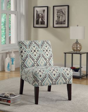 Upholstered Accent Chair! Multi-Color And Espresso! for Sale in West Sacramento, CA