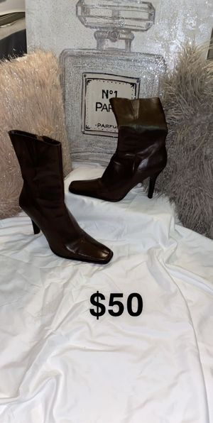 Diba Brown Leather Ankle Boots for Sale in Greenbelt, MD