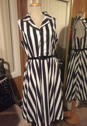 Lindy Bop black and white striped dress for Sale in Norwalk, CA