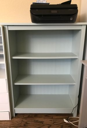 Desk & Bookcase - Mint Green for Sale in Upland, CA