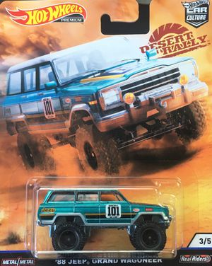 Hot wheels 88 Jeep grand wagoner desert rally 🌵 collectible die cast toy car $12 obo trade Hotwheels jdm honda Nissan datsun Civic crx integra gtr sk for Sale in Colton, CA