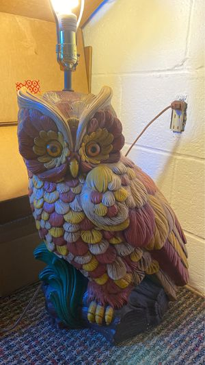 Large Vintage Owl Lamp for Sale in York, PA