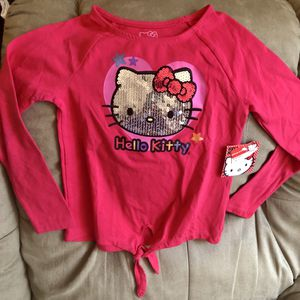 *New w/ tags* Sequined Hello Kitty Size 6 Girls Long Sleeve Shirt for Sale in Coral Springs, FL