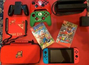 Pre owned Nintendo switch bundle with games and acces9 for Sale in St. Louis, MO