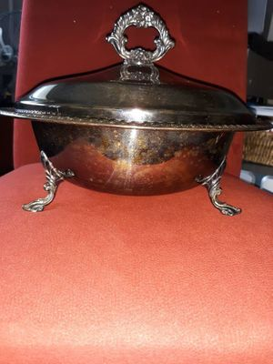 """🎬 FB Rogers Silver Company 11"""" Silver plated Serving Bowl w/12"""" Silver p for Sale in Baton Rouge, LA"""