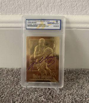 Kobe Bryant Rare LA Lakers AUTO Card Graded 10 for Sale in Leander, TX