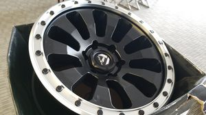 18x9 6x139.7 BLACK AND MACHINE RIMS IN STOCK NO CREDIT FINANCING AVAILABLE FOR AS LOW AS $1 for Sale in Portland, OR