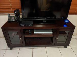 Dark Wood TV Entertainment Stand for Sale in Miami, FL