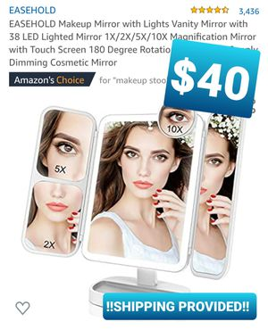 EASEHOLD Makeup Mirror with Lights Vanity Mirror with 38 LED Lighted Mirror 1X/2X/5X/10X Magnification, espejo con luz for Sale in Pomona, CA