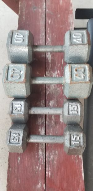 Weights and bench for Sale in San Antonio, TX