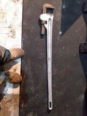 solid aluminum industrial pipe wrench for Sale in Davenport, IA
