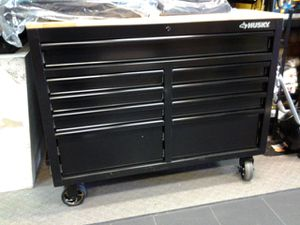 """New Husky 46"""" mobile locking tool box with built in power bar for Sale in Redlands, CA"""