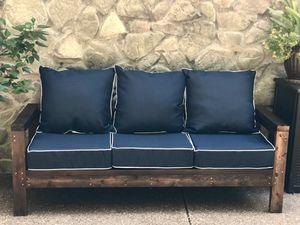 Rustic farmhouse cedar patio couch for Sale in Nashville, TN
