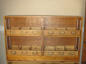 Solid Pine Classroom Library Shelf With Front Facing Book Boxes for Sale in Glendale, AZ
