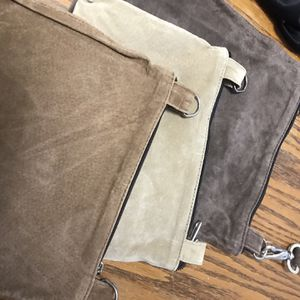 3 BRAND NAME LEATHER HAND BAGS for Sale in Beaumont, CA