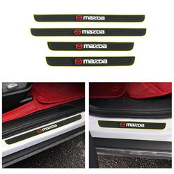 BRAND NEW 4PCS MAZDA YELLOW RUBBER DOOR SILL SCUFF UNIVERSAL for Sale in City of Industry,  CA