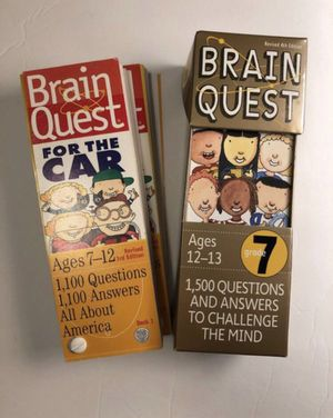 2 double deck Brain Quest Educational ages 7-12 & 12-13 for Sale in Vancouver, WA