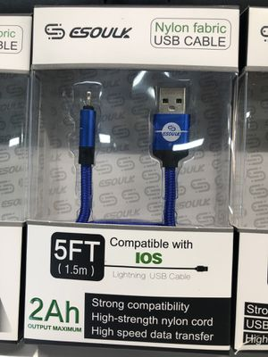 BRAND NEW 5FT NYLON FABRIC USB CABLES for Sale in Fontana, CA