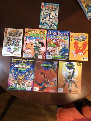 Digimon Pokemon Magazine Comics Lot of 8 for Sale in Webster, TX