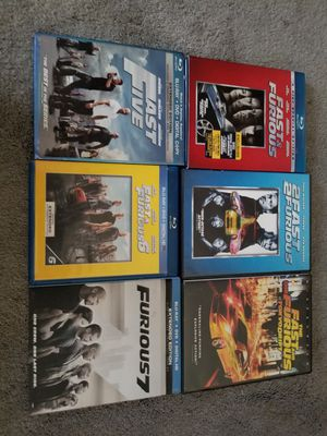 Fast and the furious dvds and blu ray dvd for Sale in Rialto, CA