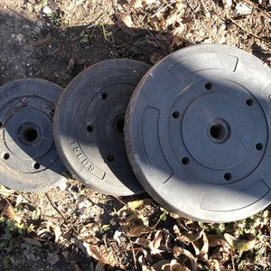 Weights 2-25s 2-15s 2-10s Bar for Sale in San Antonio, TX