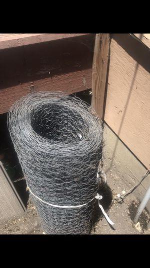 Chicken wire approximately 60' +, rollo de alambre aproximadamente 60' + for Sale in Lompoc, CA
