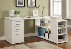 L-Shaped Desk in White Wood $299- SALE! Best Prices! for Sale in Sacramento, CA