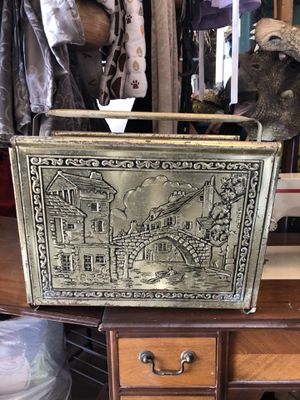 Tin Antique magazine rack for Sale in Las Vegas, NV