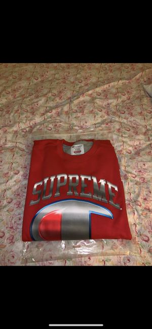 Supreme Champion Chrome Crewneck Red Size XL for Sale in Concord, CA