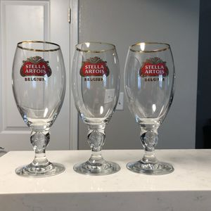 Collectible Stella Artois Belgium Glasses for Sale in Pasadena, MD