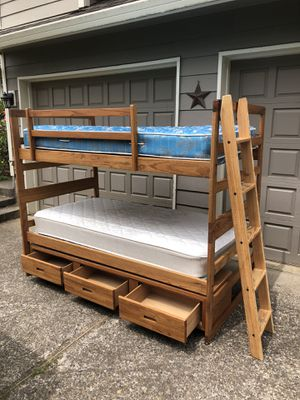 Bunk beds with mattresses for Sale in Gladstone, OR