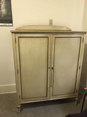 Antique Early 20th Century Wood Wardrobe armoire Cabinet for Sale in San Diego, CA