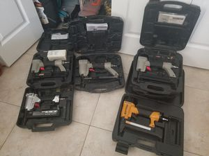 8 nailguns all work perfect with cases for Sale in Coral Springs, FL
