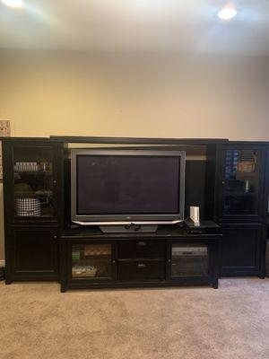 Black farmhouse style entertainment unit (center) for Sale in Queen Creek, AZ